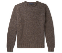 Mélange Yak And Wool-blend Sweater - Brown