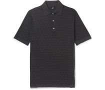 Slim-Fit Striped Knitted Mulberry Silk Polo Shirt