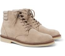 Icer Walk Cashmere-trimmed Suede Boots - Beige
