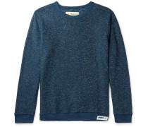 Mélange Fleece-Back Cotton-Blend  Sweatshirt