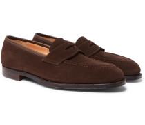 Bradley Suede Penny Loafers - Dark brown