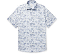 Tie-Dyed Cotton and Linen-Blend Shirt