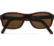 + Cutler and Gross Square-Frame Tortoiseshell Acetate Sunglasses