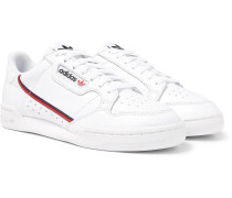 Continental 80 Grosgrain-trimmed Leather Sneakers - White
