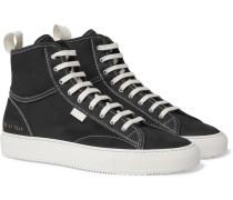 Tournament Nubuck High-top Sneakers - Black
