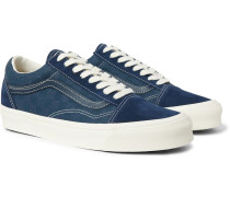 Og Old Skool Lx Leather-trimmed Suede And Checkerboard Canvas Sneakers