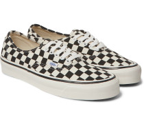 Anaheim Authentic 44 DX Checkerboard Canvas Sneakers