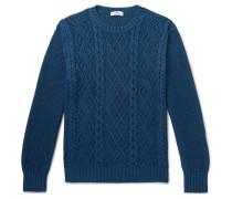 Cable-Knit Organic Pima Cotton Sweater
