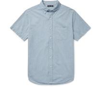 Shore Slim-fit Button-down Collar Cotton-chambray Shirt