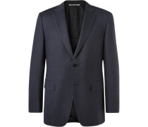 Blue Impeccabile Travel Slim-fit Wool Suit Jacket