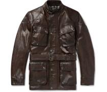 Trialmaster Leather Jacket - Brown