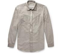 Sahara Watercolour-dyed Cotton-drill Shirt