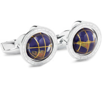 Globe Cage Sterling Silver Multi-stone Cufflinks