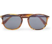 D-frame Tortoiseshell Acetate Sunglasses - Brown