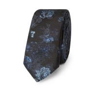 4cm Silk-jacquard Tie - Navy