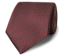 7cm Textured-silk Tie - Merlot