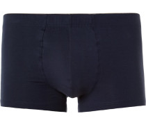 Superior Cotton-blend Boxer Briefs - Navy