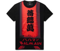 Slim-fit Logo-print Cotton-jersey T-shirt - Black