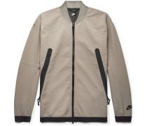 Sportswear Tech Crinkled-jersey Bomber Jacket