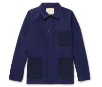 Two-tone Cotton-moleskin Chore Jacket - Blue