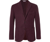 Burgundy K-jacket Cotton-moleskin Blazer