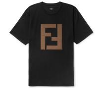 Logo-appliquéd Cotton-jersey T-shirt - Black