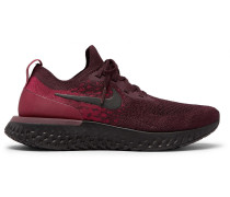 Epic React Rubber-trimmed Flyknit Running Sneakers - Burgundy
