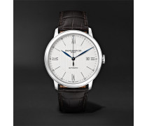Classima Automatic 40mm Stainless Steel And Alligator Watch - White