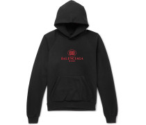 Logo-print Cotton-blend Jersey Hoodie