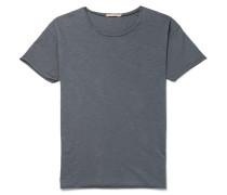 Roger Slub Cotton-jersey T-shirt - Blue