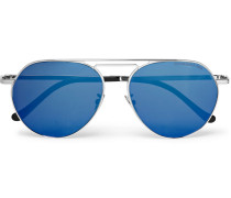 Aviator-style Gold-tone Sunglasses - Silver