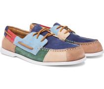 Authentic Original Colour-Block Suede Boat Shoes