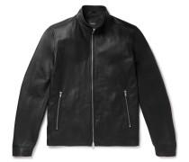 Morvek Slim-fit Leather Jacket - Black