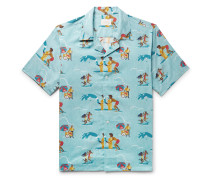 Block Party Camp-Collar Printed Cotton Shirt