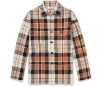 Kline Checked Cotton And Linen-blend Shirt Jacket