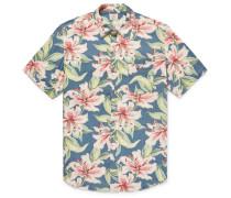Floral-print Linen-blend Shirt