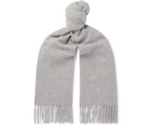 Canada Fringed Mélange Wool Scarf - Gray