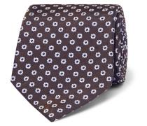 8cm Floral Silk-jacquard Tie - Brown
