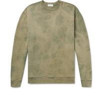 Tie-dyed Loopback Cotton-jersey Sweatshirt - Sage green
