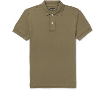 Slim-fit Cotton-piqué Polo Shirt - Army green