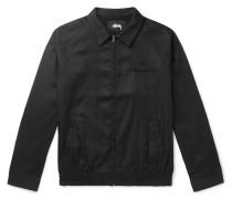 Bryan Snake-print Jersey Blouson Jacket - Black