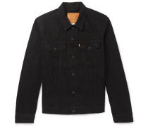 Denim Trucker Jacket - Black