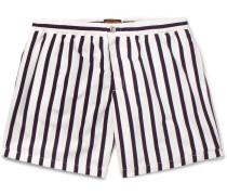 Short-length Striped Swim Shorts
