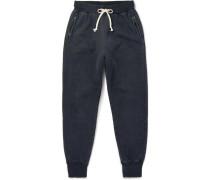 Replica Slim-fit Tapered Fleece-back Cotton-jersey Sweatpants - Black