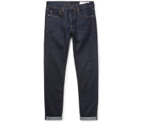 Fit 1 Skinny-fit Selvedge Stretch-denim Jeans - Dark denim