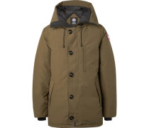 Chateau Shell Hooded Down Parka - Green