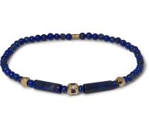 14-Karat Gold, Sapphire and Diamond Beaded Bracelet