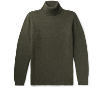 Pearl Slim-fit Knitted Rollneck Sweater - Green
