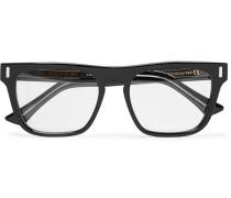 Square-frame Acetate Optical Glasses - Black
