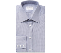 + Turnbull & Asser Navy Puppytooth Cotton Shirt